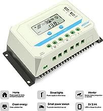 EPEVER 30A Solar Charge Controller, 12V/24V/36V/48V Intelligent Regulator with Dual USB Port PWM LCD Display