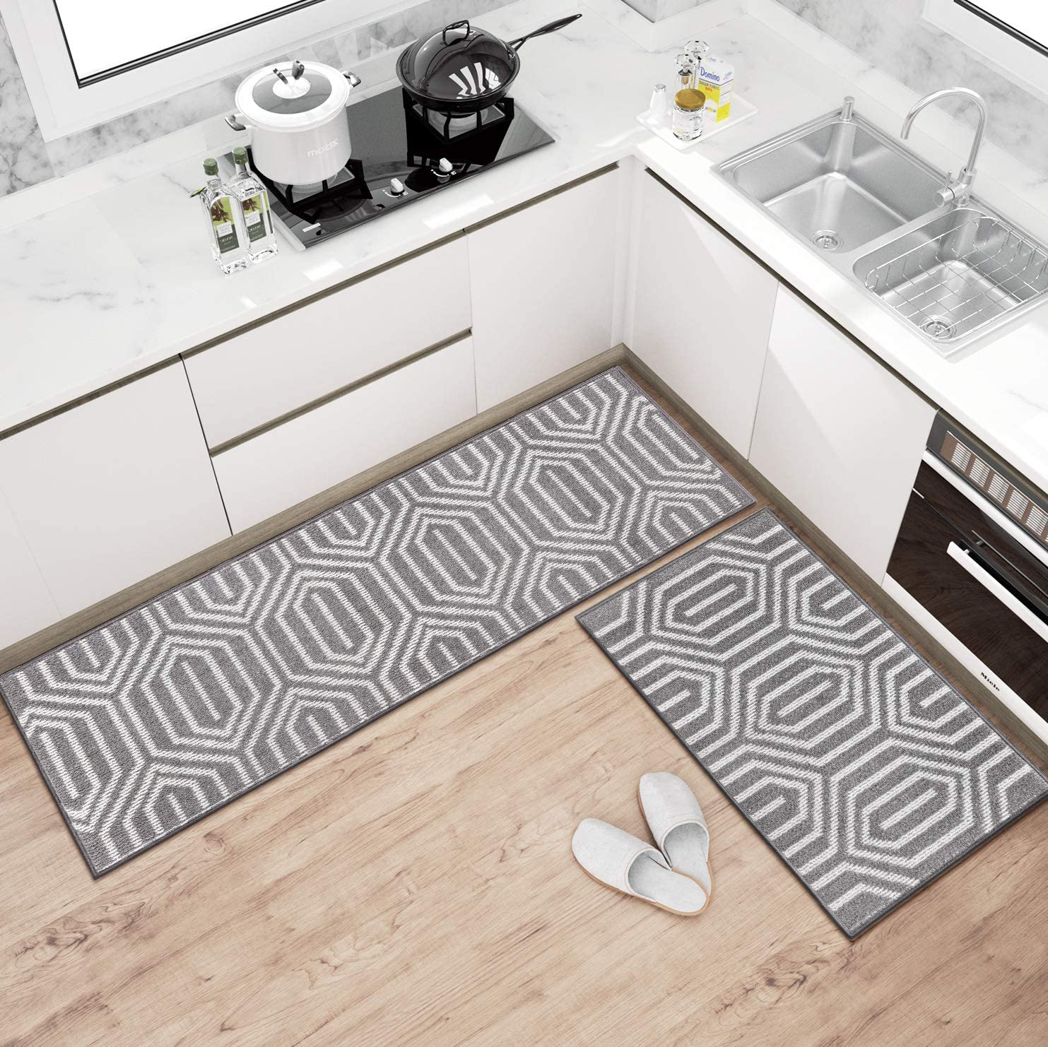 Buy Kitchen Rugs and Mats Washable [9 PCS], Non Skid Soft ...
