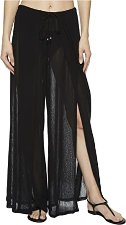 Robin Piccone - Francesca Wide Leg Front Slit Pant Cover-Up