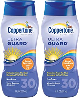 Coppertone 超护肤乳 SPF 30 *霜 - 8 盎司,2 包