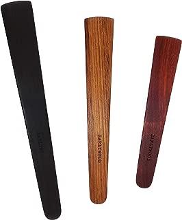 3-Piece Wood Kitchen Utensil Set: 3 Thin Wood Cooking Spatulas. Multipurpose wooden spatula set, great for flipping, sauteing, tasting, stirring. Handmade Wooden Utensils Set, Made in USA - EJB