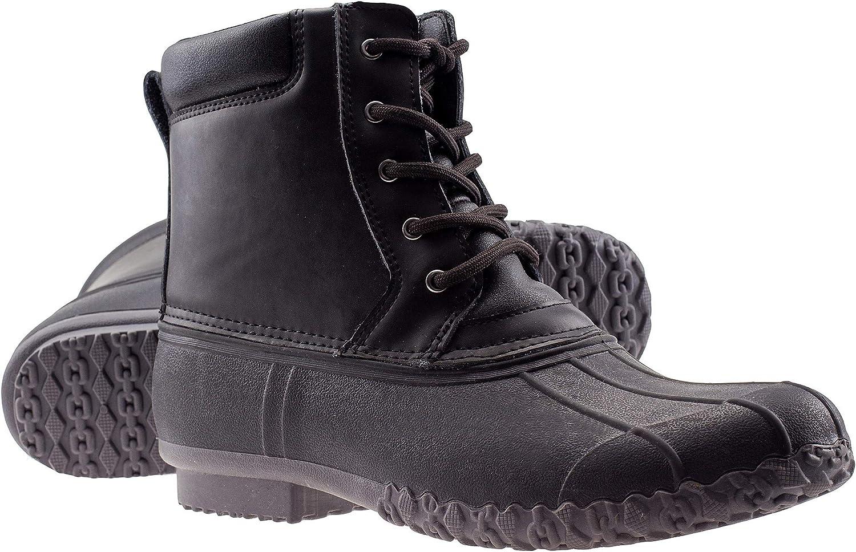 ArcticShield Mens Durable Waterproof Insulated Outdoor Rain Snow Duck Bean Boots