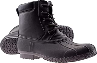 ArcticShield Mens Waterproof Insulated Durable Outdoor Work Rain Winter Snow Duck Bean Boots