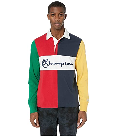Todd Snyder Todd Snyder + Champion Color Block Rugby Polo