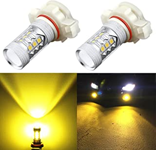Alla Lighting 5201 5202 LED Fog Light Bulbs Xtreme Super Bright High-Power 3030 SMD Car Truck PS19W 12085 PS24W 9009 DRL Replacement, 3000K Golden Yellow
