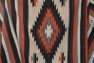 Galaxy Reborn Mexican Blanket Tribal Diamond Burnt Umbre 80 x 48 Authentic Premium XLarge Handwoven Southwestern Throw Serape Yoga Rug