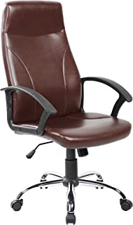 IFCO DECO AOC-9308-BR High Back PU Leather Executive Chair (Brown)