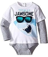 Tommy Hilfiger Kids - Shark Doubler Long Sleeve One-Piece (Infant)