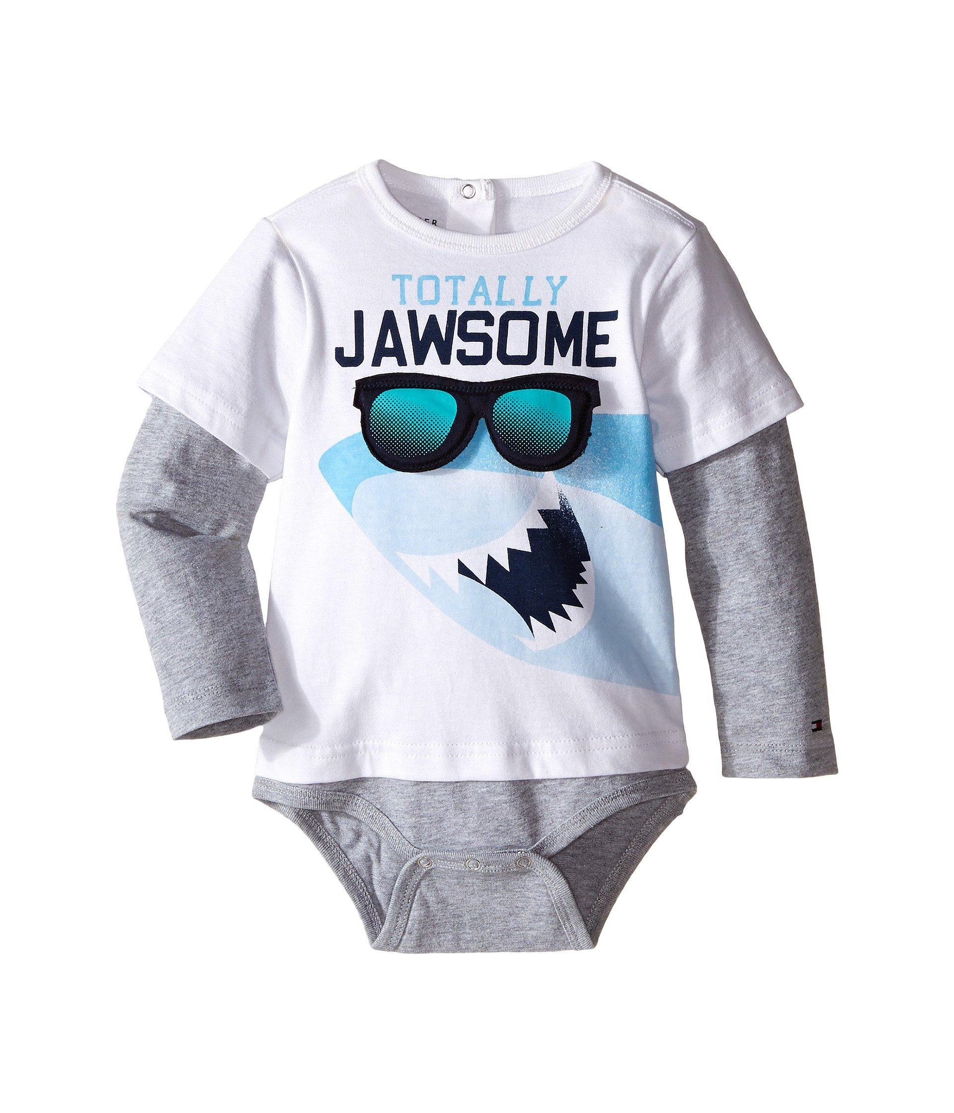Enterizo para Bebe Tommy Hilfiger Kids Shark Doubler Long Sleeve One-Piece (Infant)  + Tommy Hilfiger en VeoyCompro.net