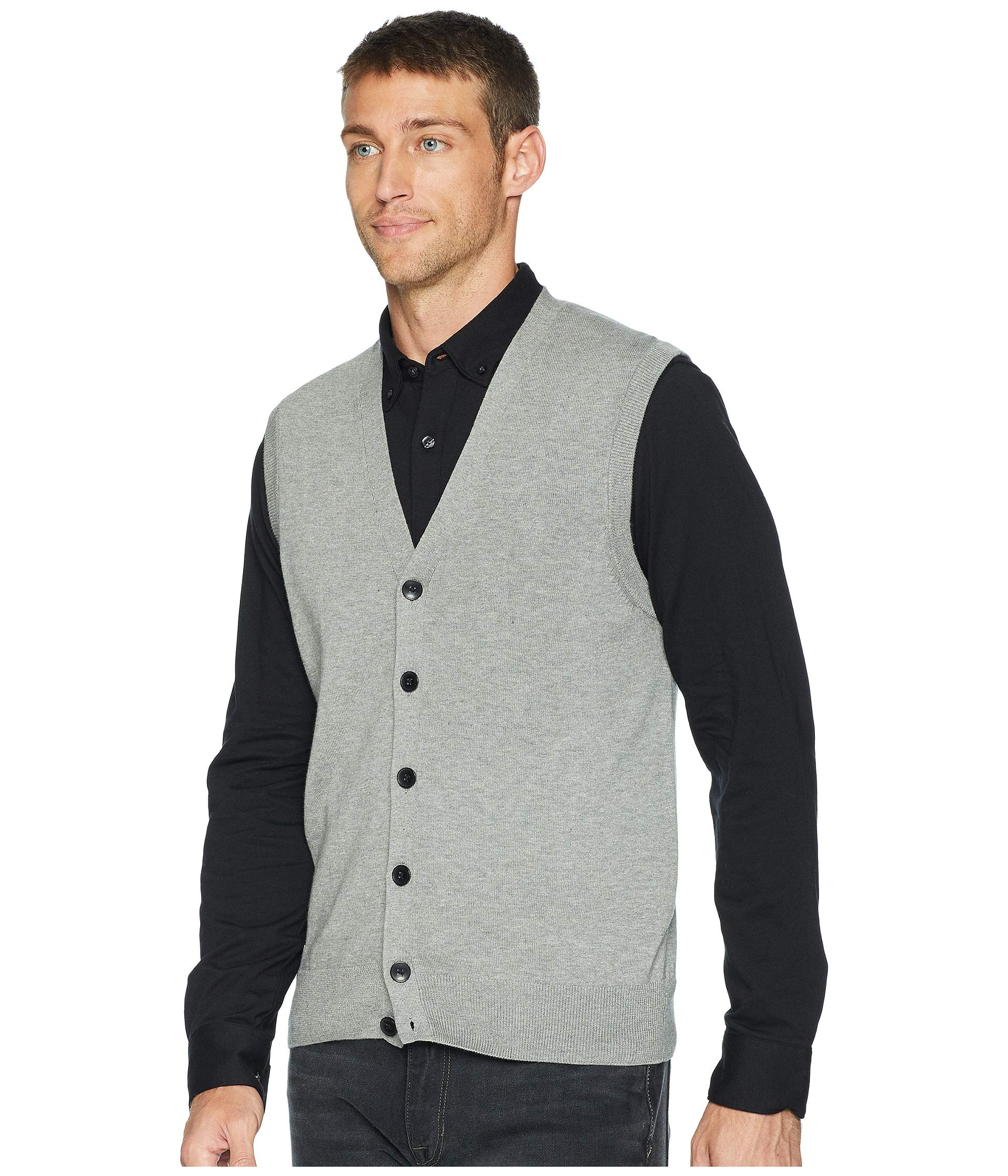 Smoke Ellis Modal Vest Sweater Perry Cotton Heather Knit pUBq4YYZw