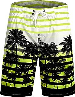 ICEbear Mens Swim Trunks Quick Dry Water Beach Board Shorts Cool Sportwear,Orange,4XL