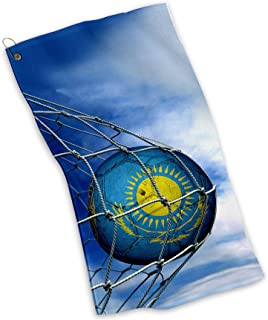 Golf / Sports / Kitchen Towel with Flag of Kazakhstan - Many Designs - Lightweight and Durable MicroFiber