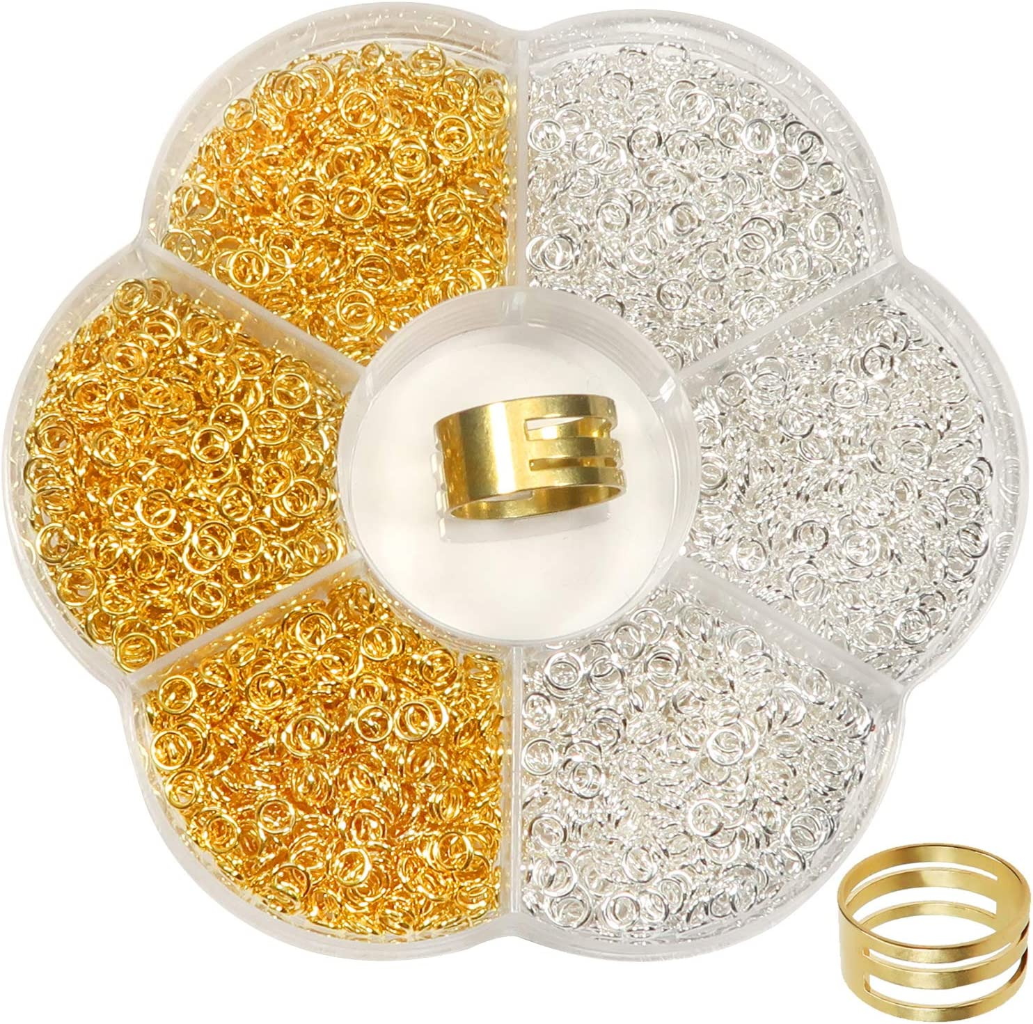 TOAOB 2400pcs Jewelry Making Jump Rings Jum 4mm Open Gold 5 Dealing full price reduction ☆ very popular Silver