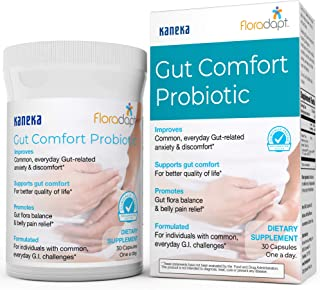 Gut Comfort™ Probiotic – Clinically Tested Formulation to Improve Gut-Related Anxiety & Discomfort, Promote...
