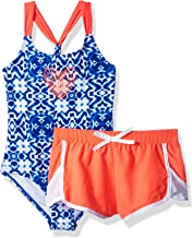 Limited Too Girls' Tie Dye Print 1pc Swim and Woven Short