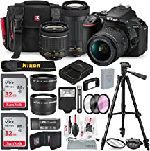Nikon D5600 DSLR Camera with NIKKOR 18-55mm + 70-300mm Lenses W/ Total of 48 GB SD CARD, Telephoto & Wideangle Lens, Xpix Lens Handling Accessories with Basic Bundle