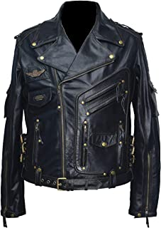 New Soft Lambskin Motorcycle biker Genuine Leather Jacket Cafe Racer Bomber 239