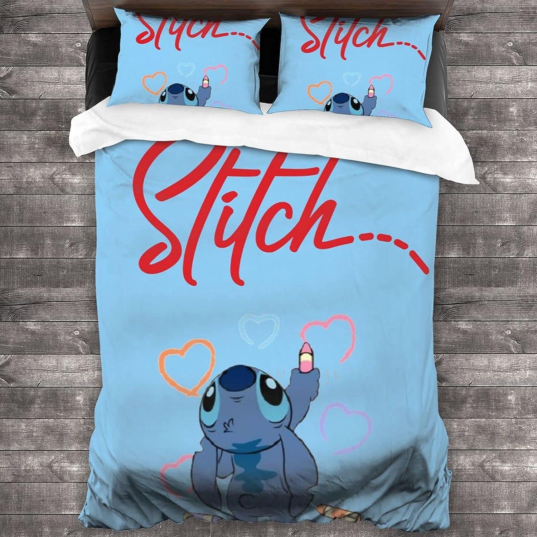 PDNADFBEK Stitch Microfiber Soft Award-winning store 3-Piece Set ( Long-awaited Bedding 86