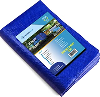 Waterproof Tarp Multi-Purpose 30x40-Blue Poly Tarpaulin with Aluminum Grommets-Rot, Rust and UV Resistant-Cover and Emergency Protector Shelter-for Cars, Boats, Construction Contractors, Campers