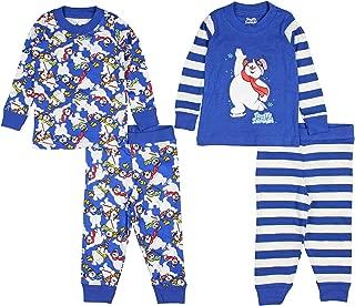 INTIMO Baby Boys' Infant Frosty The Snowman 4-Piece Pajama Set