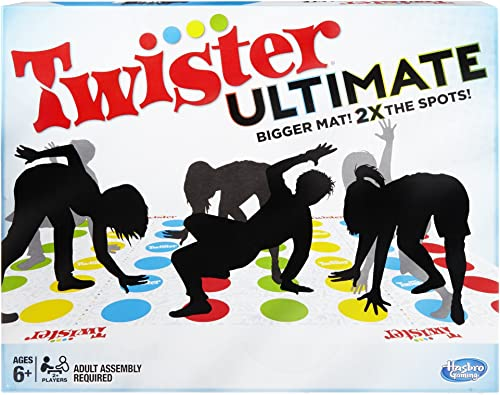 Twister Ultimate: Bigger Mat, More Colored Spots, Family, Kids Party Game Age 6+; Compatible with Alexa (Amazon Exclu...