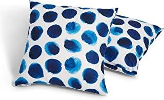 Beyjos Soft and Cozy Throw Pillow Covers Pillowcases 18x18in (45x45cm) Blue Polka Dot -Pillows Covers only-