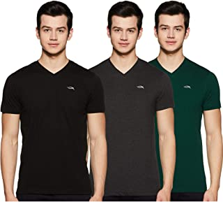 Max Men's Solid Slim fit T-Shirt (Pack of 3)