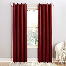 (brick, 54x84) - Sun Zero Seymour Room Darkening Grommet Curtain Panel