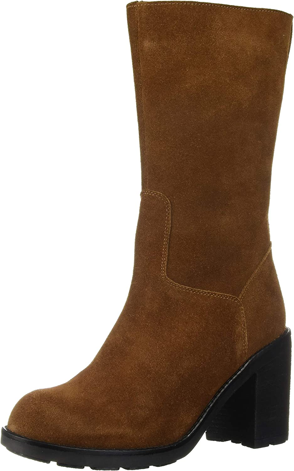 LFL by Lust for Life Women's L-Magnum Mid Calf Boot, tan Suede, 11 M US