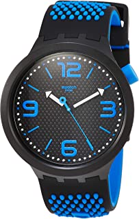 Swatch Mens Analogue Quartz Watch with Silicone Strap SO27B101