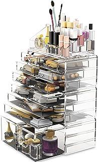Reodoeer 化粧品収納ボックス コスメ収納 特大容量 メイクケース メイクボックス メイク収納ケース 化粧品入れ (透明)