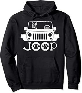German Shepherd Dog Hoodie - Riding on Jeep - Gift For Guys