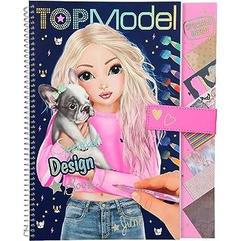 Depesche 10715 Libro da colorare Special Design Book, TOPModel, con Stencil, Motivo Arco e Molti Accessori, ca. 29,5 x 23,7 x 1,5 cm, Multicolore