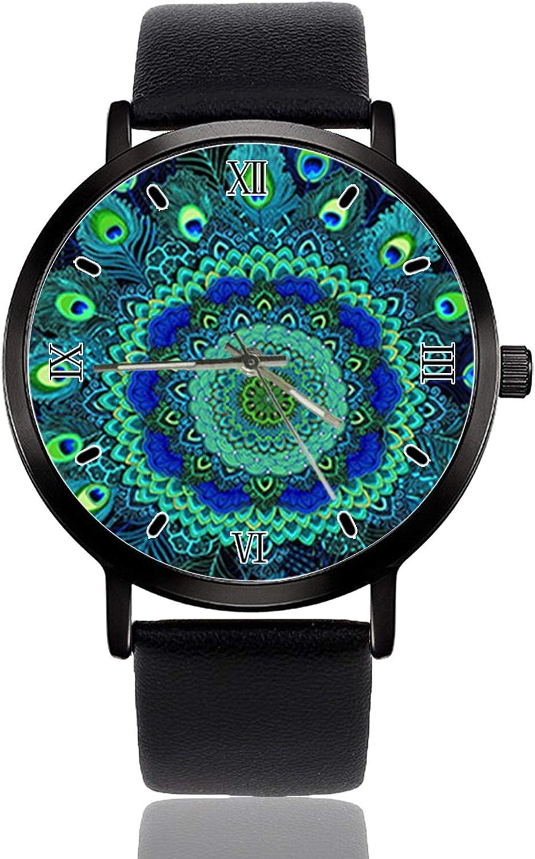 Peacock Feathers Wrist Japan's largest assortment Watch Custom Wathes Design Quartz trust Analog