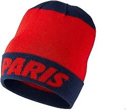 Nike Mens Paris Saint Germain PSG Knit Beanie (Challenge Red/Navy) OSFM