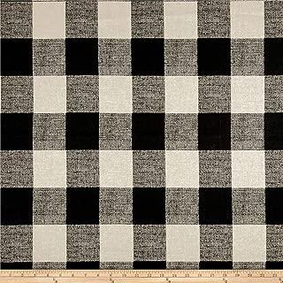 Premier Prints Anderson Check Fabric, Black/Linen
