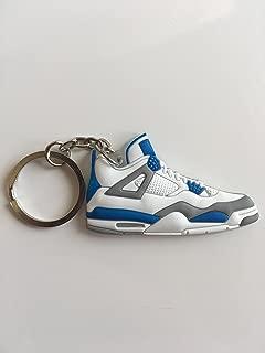 Jordan Retro 4 Military Blue Sneaker Keychain Shoes Keyring AJ 23 OG