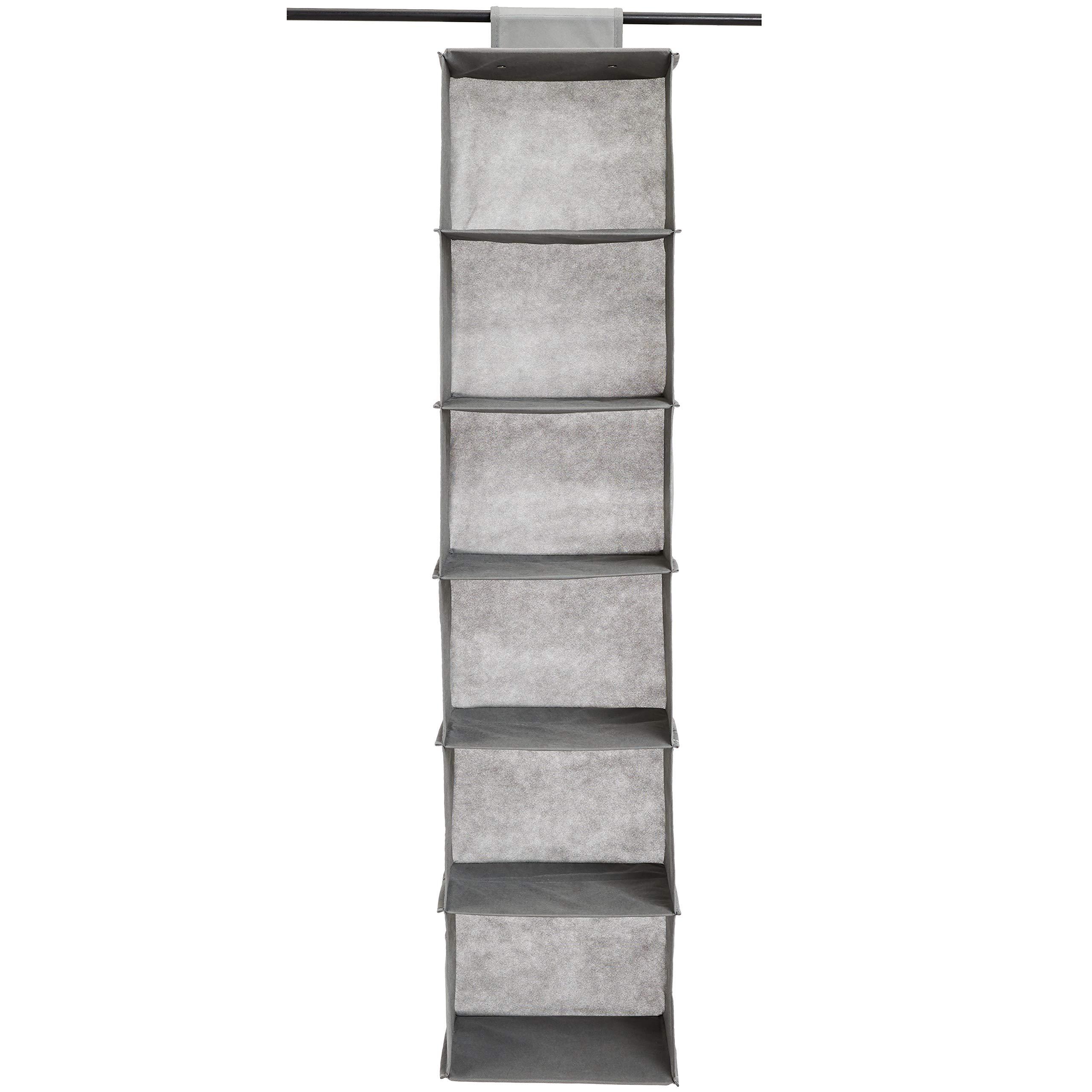 Amazon Basics Hanging Closet Shelf, 6-Tier