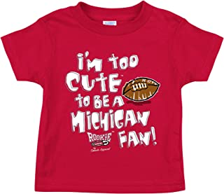 Smack Apparel Ohio State Buckeyes Fans. Too Cute Red Onesie (NB-18M) and Toddler Tee (2T-4T)