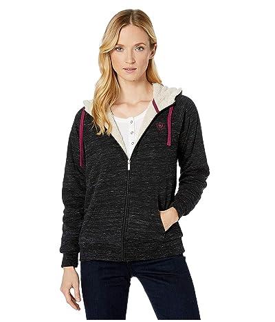 Ariat R.E.A.L. Fleece Full Zip Sweatshirt (Black) Women