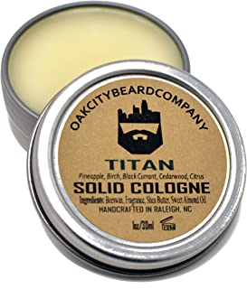 OakCityBeardCo. - Titan - Men's Solid Cologne - 1oz