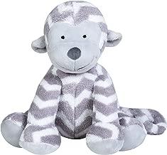 Trend Lab Monkey Plush Toy, GrayWhite