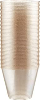 100 count Gold Glitter 9 oz Party Cups Old Fashioned Tumblers by Oojami