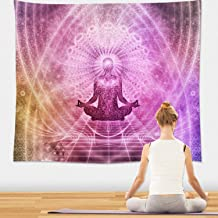 Chakra Tapestry Wall Hanging - Psychedelic Indian Yoga Tapestry, Chakra Artwork for Yoga Room, Home, Dorm Decor 51x59 Inches (Zen)