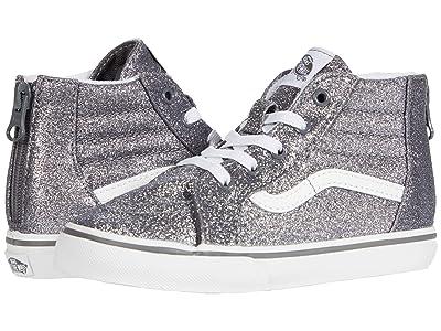 Vans Kids Sk8-Hi Zip (Infant/Toddler) ((Glitter) Pewter/True White) Girls Shoes