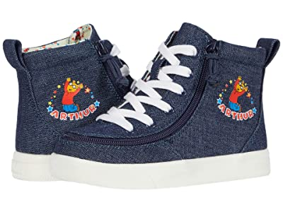 BILLY Footwear Kids Classic Lace High Arthur Celebration (Toddler) (Blue Denim) Kid