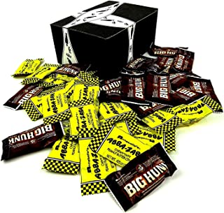 Annabelle's Mini Bars 2-Flavor Variety: Ten 0.425 oz Bars Each of Big Hunk and Abba-Zaba in a BlackTie Box (20 Items Total)