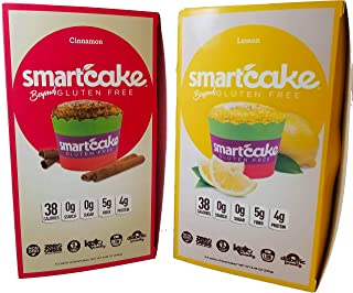 SMARTCAKE BUNDLE: 4x LEMON TWIN PACKS AND 4x CINNAMON TWIN PACKS: GLUTEN FREE, SUGAR FREE, LOW CARB SNACK CAKES: TOTAL OF 8 TWIN PACKS