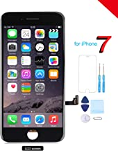 Coobetter for iPhone 7 Screen Replacement LCD 3D Touch Screen Digitizer Display with Free Repair Tool Kits + Free Screen Protector Black (A1660, A1778, A1779)