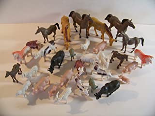 32 Farm Animals Barn Ranch Toys Educational Cake Toppers Party Supplies